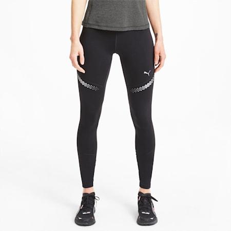 Runner ID Lange Damen Laufleggings, Puma Black, small