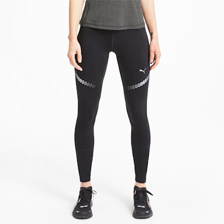 Runner ID Women's Full Length Running Leggings, Puma Black, small