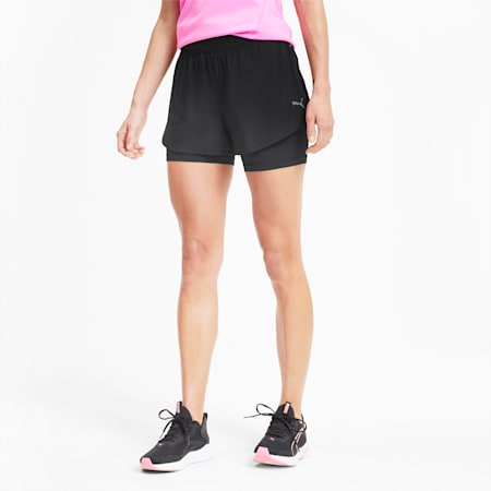 Short tissé Favourite 2-in-1 Running pour femme, Puma Black, small