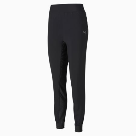 Favourite Tapered Relaxed Fit Women's Running Sweat Pants, Puma Black, small-IND