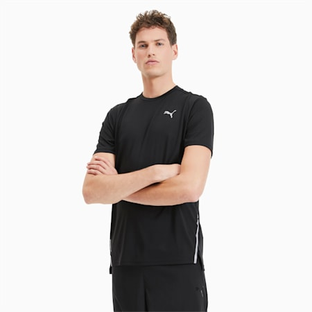 Męska koszulka do biegania Lite Laser Cat, Puma Black, small