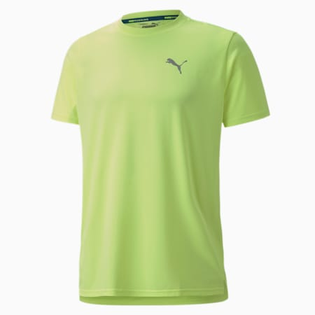 Lite Laser Cat Reflective Tec dryCELL Men's Running T-Shirt, Fizzy Yellow, small-IND