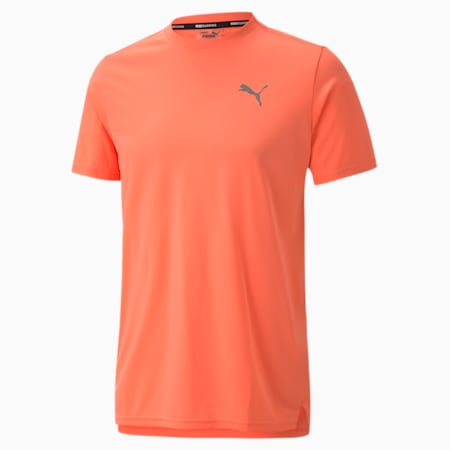 Lite Laser Cat Reflective Tec dryCELL Men's Running T-Shirt, Nrgy Peach, small-IND