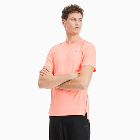 Męska koszulka do biegania Lite Laser Cat, Nrgy Peach, small