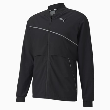 Ultra Woven dryCELL Reflective Tec Men's Running Jacket, Puma Black, small-IND