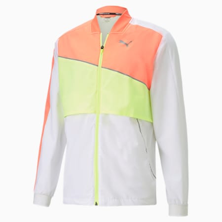 Ultra Woven Men's Running Jacket, Pma Wht-Nrgy Pch-Fizzy Yllw, small-GBR