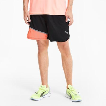 "RUN 7"" Woven Men's Running Shorts, Puma Black-Nrgy Peach, small-IND"