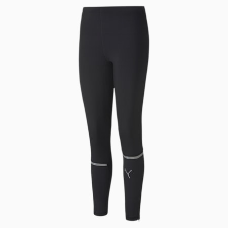 Lite Long Men's Reflective Tec dryCELL Running Tights, Puma Black, small-IND