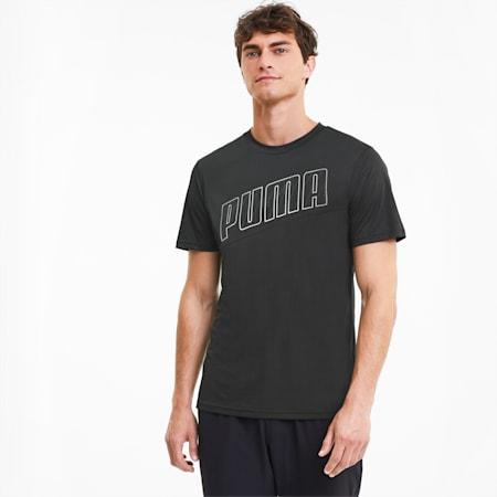 Męska koszulka do biegania z krótkim rękawem Logo, Puma Black, small