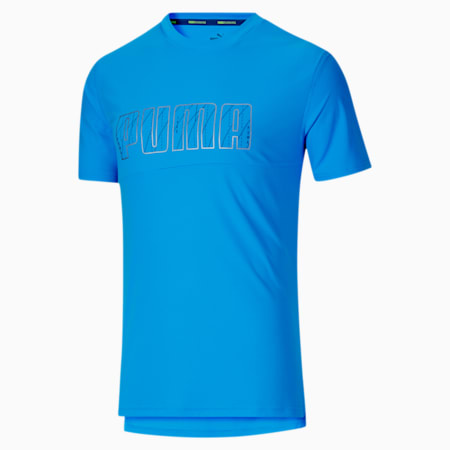 Run Men's Logo Tee, Nrgy Blue, small