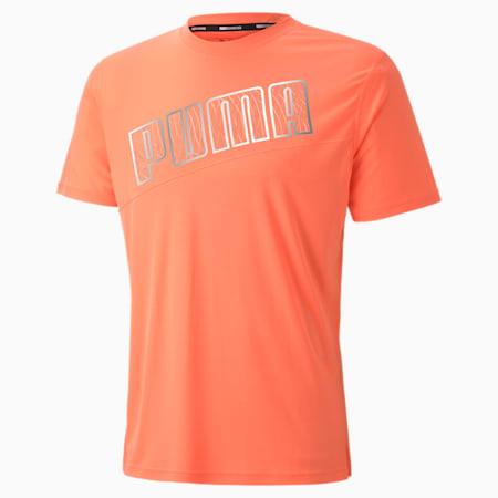 Run Men's Logo T-Shirt, Nrgy Peach, small-IND