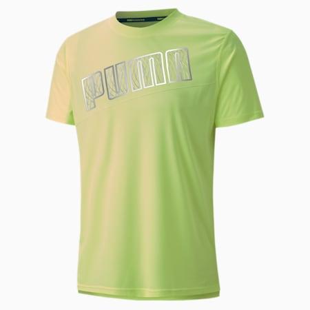 Run Men's Logo T-Shirt, Fizzy Yellow, small-IND