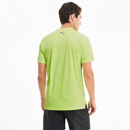 Logo Short Sleeve Men's Running Tee, Fizzy Yellow, small-SEA