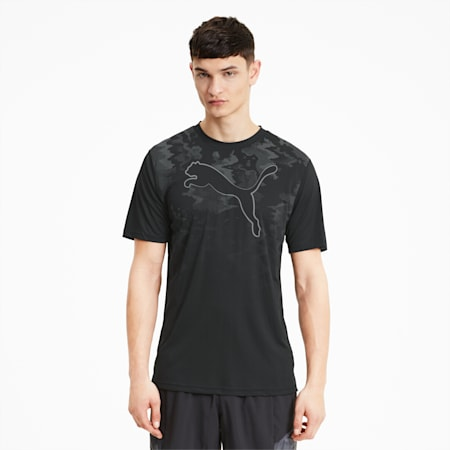 Run Men's Graphic Cat Tee, Puma Black, small