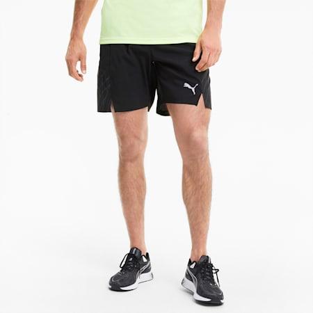 "RUN Graphic Woven 7"" Men's Running Shorts, Puma Black-Ultra Gray, small-IND"