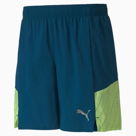 "RUN Graphic Woven 7"" Men's Running Shorts, Digi-blue, small-IND"