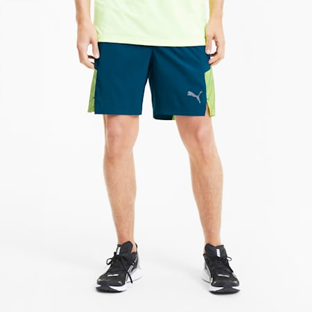"Graphic Woven 7"" Men's Running Shorts, Digi-blue, small"