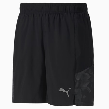 "RUN Graphic Woven 7"" Men's Running Shorts, Puma Black, small-IND"