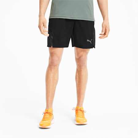 Run Men's Graphic Woven Shorts, Puma Black, small