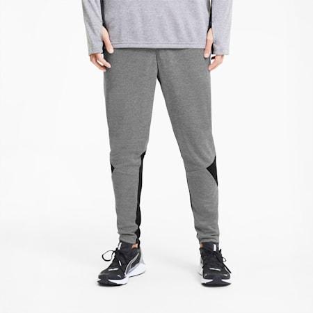 Herren Running Taillierte Hose, Medium Gray Hthr-Puma Black, small