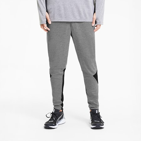 Tapered Reflective Tec dryCELL Men's Running Pants, Medium Gray Hthr-Puma Black, small-IND
