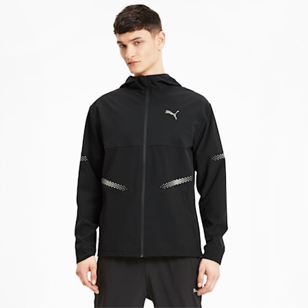 Runner ID Hooded Men's Running Jacket, Puma Black, small