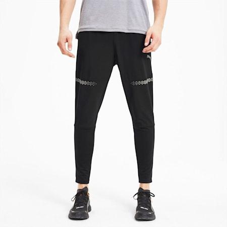 Runner ID Tapered Men's Running Pants, Puma Black, small-SEA
