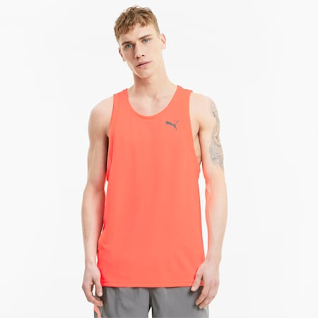 Favourite Men's Running Tank Top, Nrgy Peach-Ultra Gray, small-SEA