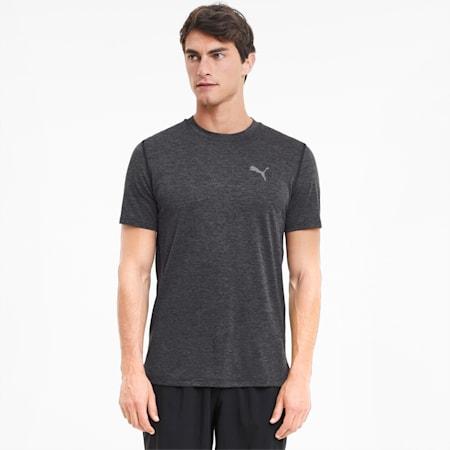 Favourite Heather Herren Lauf-T-Shirt, Dark Gray Heather, small