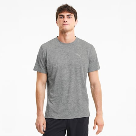 Favourite Heather dryCELL Reflective Tec Men's Running T-Shirt, Medium Gray Heather, small-IND