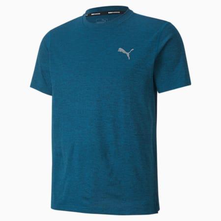 런 헤더 반팔 티셔츠, Digi-blue Heather, small-KOR