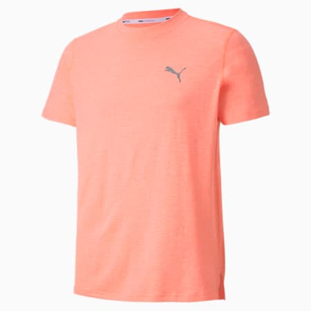 Favourite Heather dryCELL Reflective Tec Men's Running T-Shirt, Nrgy Peach Heather, small-IND