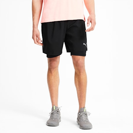 "Favourite 2 in 1 Woven 7"" Men's Running Shorts, Puma Black, small-SEA"