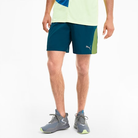 Short tissé Favourite 2-in-1 Running pour homme, Digi-blue-Fizzy Yellow, small