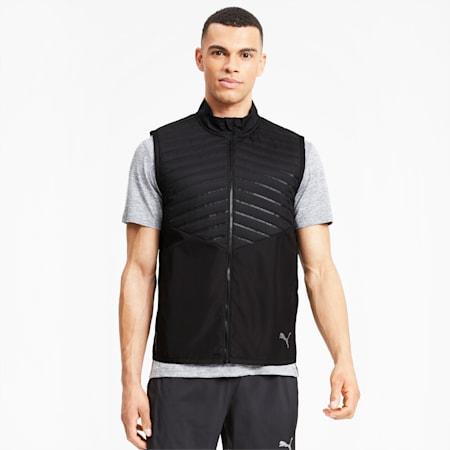 Favourite Men's Running Puffer Vest, Puma Black, small