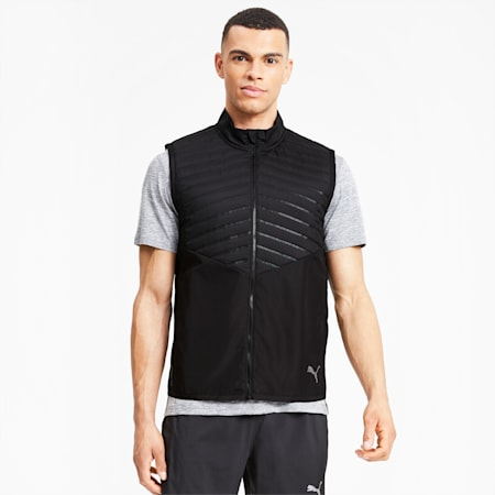 Run Favorite Men's Puffer Vest, Puma Black, small