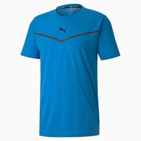 Thermo R+ training-T-shirt voor heren, Nrgy Blue, small