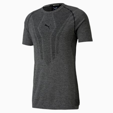 evoKNIT trainings-T-shirt met korte mouwen voor heren, Puma Black, small
