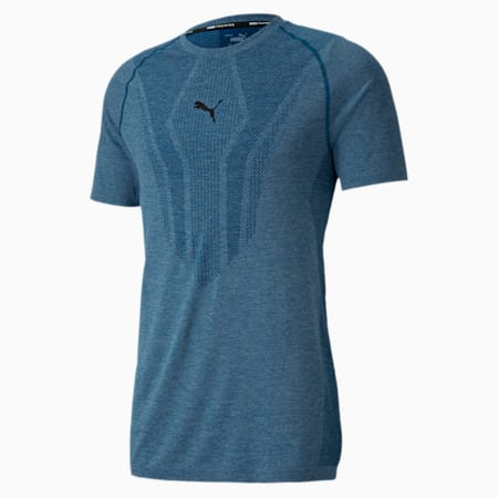 evoKNIT trainings-T-shirt met korte mouwen voor heren, Digi-blue, small
