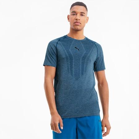 evoKNIT Short Sleeve Men's Training Tee, Digi-blue, small-GBR