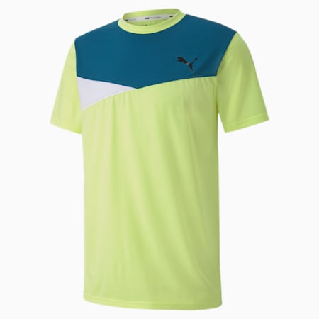 Colour Block dryCELL Men's Training T-Shirt, Fizzy Yellow, small-IND