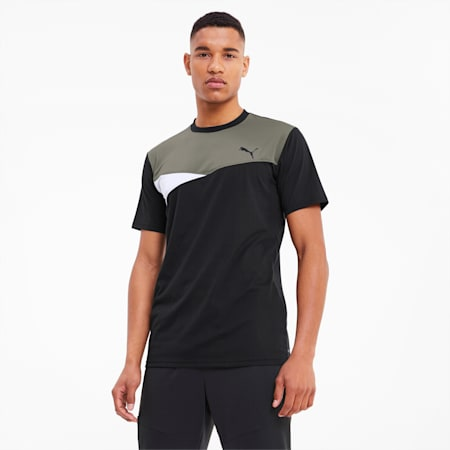 Train Men's Colorblock Tee, Puma Black, small