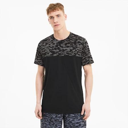 Printed Vent Men's Training T-Shirt, Puma Black, small-IND