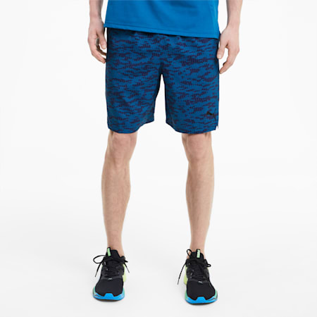 """Printed Woven 8"""" Men's Training Shorts, Digi-blue-AOP, small-IND"""