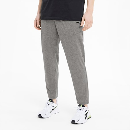 Train Men's Knitted Tapered Pants, Medium Gray Heather, small