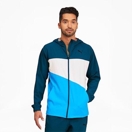 Train Vent Men's Woven Jacket, Digi-blue, small