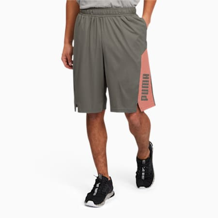 Train Men's Knitted Shorts, Ultra Gray, small