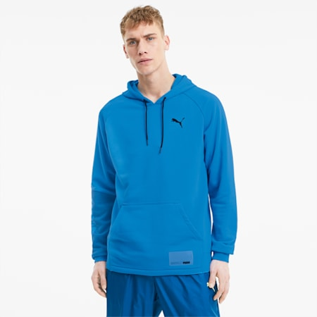 Graphic Knit Men's Training Hoodie, Nrgy Blue, small