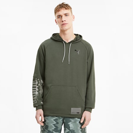 Train Men's Graphic Knit Hoodie, Thyme, small