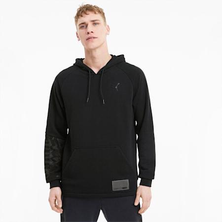 Train Men's Graphic Knit Hoodie, Puma Black, small
